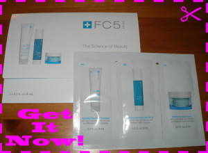 Free sample of Arbonne FC5 Hydrating Cleanser Lotion Night Creme