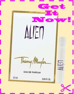 Freey sample of Thierry Mugler Alien Perfume