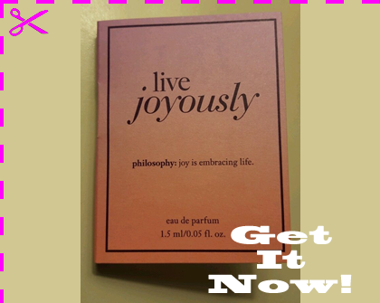 Picture of my Philosophy Live Joyously EDP Free Sample