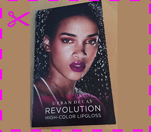 Picture of my Urban Decay Revolution High Color Lipgloss Free Sample